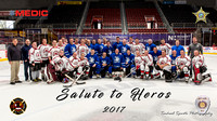 CMPD CFD Salute to Heros Hockey Game 2017